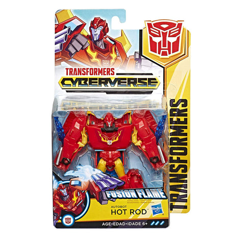 Transformers Cyberverse ~ Autobot HOT ROD ACTION FIGURE ~ Warrior Class
