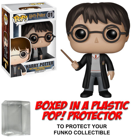 Funko POP! Movies ~ HARRY POTTER w/WAND VINYL FIGURE w/PROTECTOR CASE ~ Harry Potter