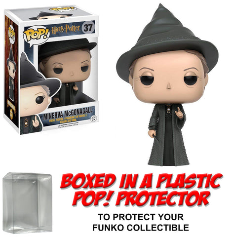 Funko POP! Movies ~ MINERVA MCGONAGALL VINYL FIGURE w/PROTECTOR CASE ~ Harry Potter