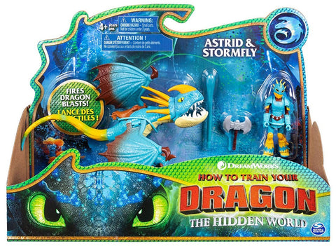 How to Train Your Dragon 3 ~ ASTRID & STORMFLY ACTION FIGURE SET ~ Spin Master