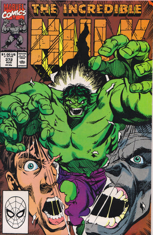 THE INCREDIBLE HULK #372 COMIC BOOK ~ Marvel Comics