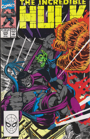 THE INCREDIBLE HULK #375 COMIC BOOK ~ Marvel Comics