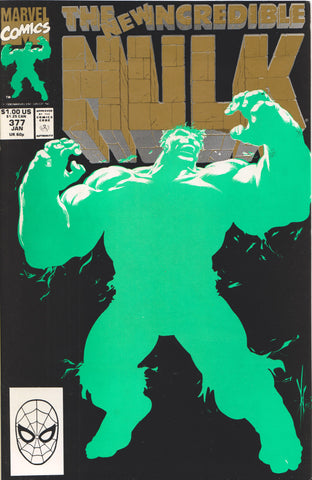 THE INCREDIBLE HULK #377 (2ND PRINT) COMIC BOOK ~ Marvel Comics