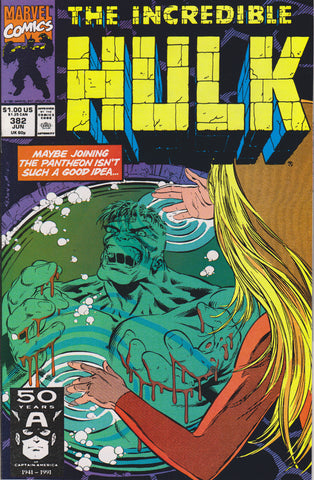 THE INCREDIBLE HULK #382 COMIC BOOK ~ Marvel Comics