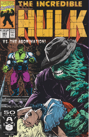 THE INCREDIBLE HULK #383 COMIC BOOK ~ Marvel Comics