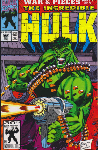 THE INCREDIBLE HULK #390 COMIC BOOK ~ Marvel Comics