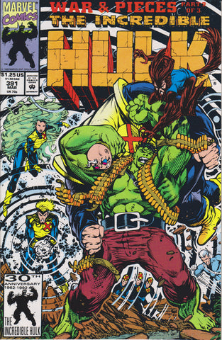 THE INCREDIBLE HULK #391 COMIC BOOK ~ Marvel Comics