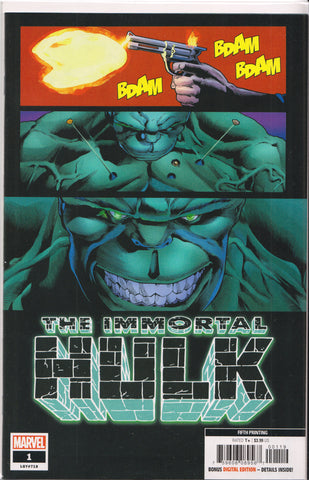 THE IMMORTAL HULK #1 (5TH PRINT) COMIC BOOK ~ Marvel Comics