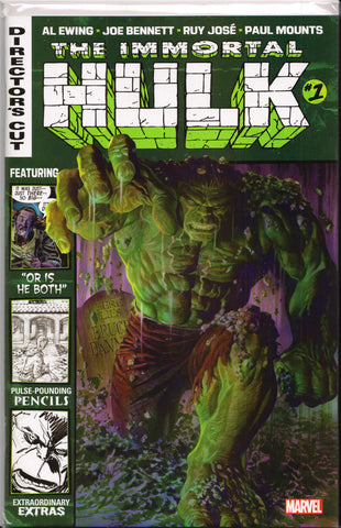 THE IMMORTAL HULK #1 DIRECTOR'S CUT COMIC BOOK ~ Marvel Comics