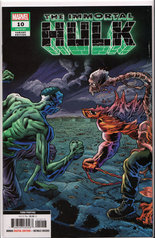 THE IMMORTAL HULK #10 (3RD PRINT) COMIC BOOK ~ Marvel Comics