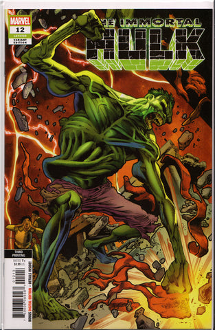 THE IMMORTAL HULK #12 (3RD PRINT) COMIC BOOK ~ Marvel Comics