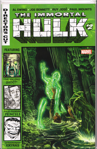 THE IMMORTAL HULK #2 DIRECTOR'S CUT COMIC BOOK ~ Marvel Comics