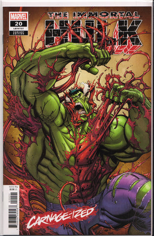 THE IMMORTAL HULK #20 (CARNAGE-IZED VARIANT) COMIC BOOK ~ Marvel Comics