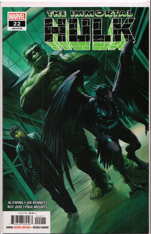 THE IMMORTAL HULK #22 (ALEX ROSS VARIANT) COMIC BOOK ~ Marvel Comics
