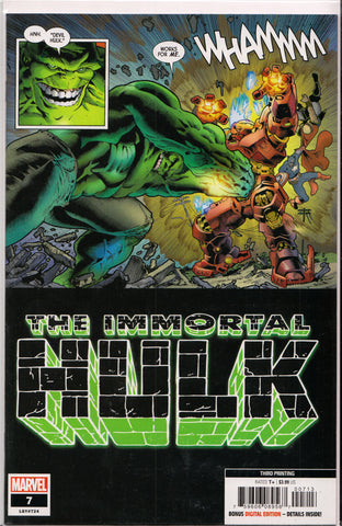 THE IMMORTAL HULK #7 (3RD PRINT) COMIC BOOK ~ Marvel Comics