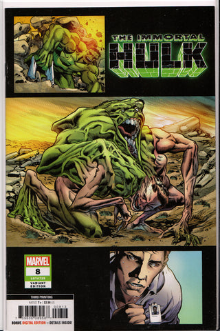 THE IMMORTAL HULK #8 (3RD PRINT) COMIC BOOK ~ Marvel Comics
