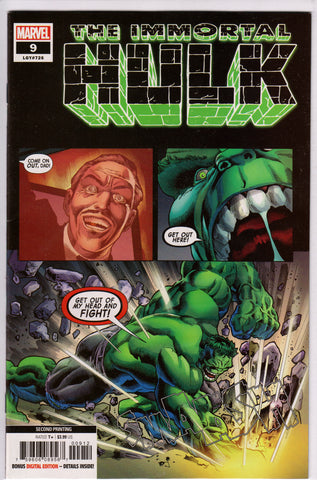THE IMMORTAL HULK #9 (2ND PRINT) COMIC BOOK ~ Marvel Comics