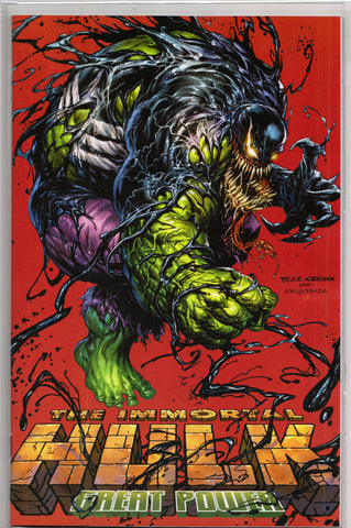 THE IMMORTAL HULK: GREAT POWER #1 (TYLER KIRKHAM EXCLUSIVE RED VARIANT) COMIC BOOK ~ Marvel Comics