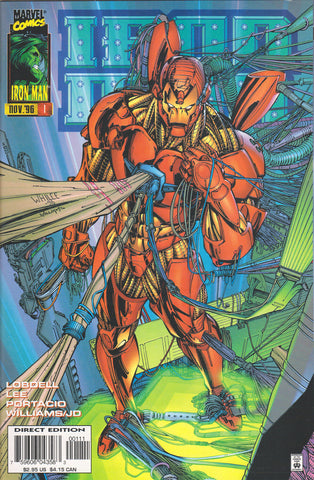 IRON MAN #1 (VOL. 2) COMIC BOOK ~ Whilce Portacio Art ~ Marvel Comics