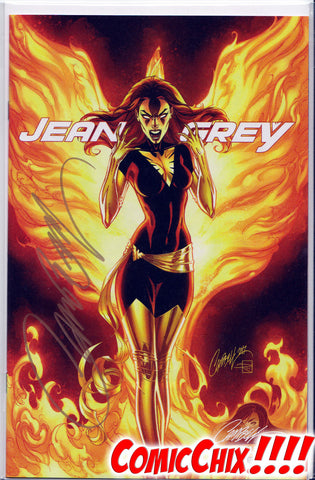JEAN GREY #1C SIGNED BY J. SCOTT CAMPBELL ~ Marvel Comics JSC Exclusive