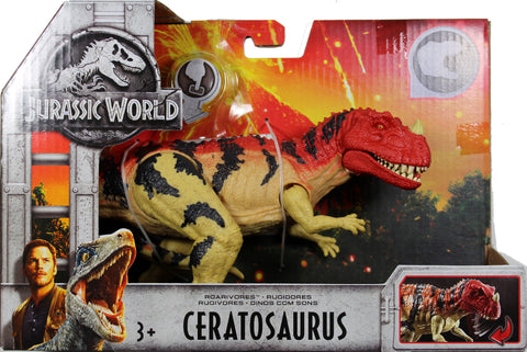 Jurassic World ~ ROARIVORES CERATOSAURUS ACTION FIGURE ~ Fallen Kingdom