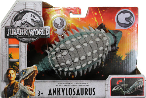 Jurassic World ~ ROARIVORES ANKYLOSAURUS ACTION FIGURE ~ Fallen Kingdom