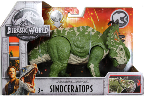 Jurassic World ~ ROARIVORES SINOCERATOPS ACTION FIGURE ~ Fallen Kingdom