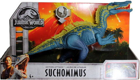 Jurassic World ~ ACTION ATTACK SUCHOMIMUS ACTION FIGURE ~ Fallen Kingdom