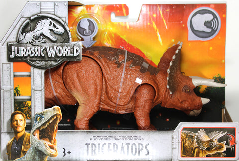 Jurassic World ~ ROARIVORES TRICERATOPS ACTION FIGURE ~ Fallen Kingdom