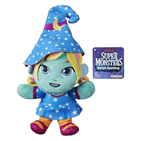 Super Monsters ~ KATYA SPELLING PLUSH TOY ~ Hasbro/Netflix Plushie