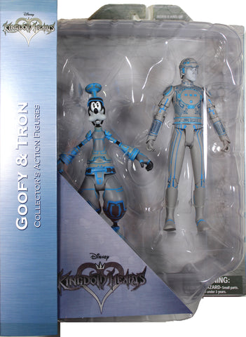 Kingdom Hearts ~ GOOFY & TRON ACTION FIGURE SET ~ Diamond Select Toys (DST)