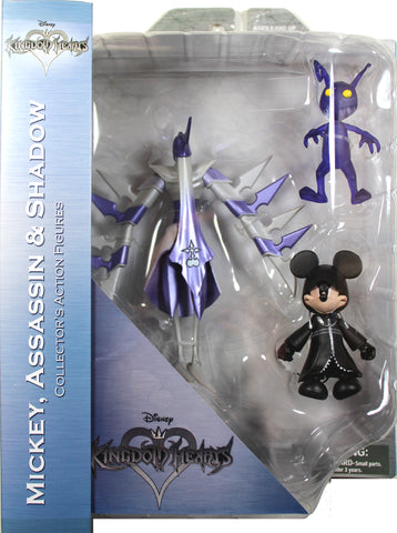 Kingdom Hearts ~ MICKEY, ASSASSIN & SHADOW ACTION FIGURE SET ~ Diamond Select