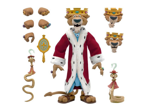 Disney Ultimates ~ PRINCE JOHN ACTION FIGURE w/SIR HISS (from ROBIN HOOD) ~ Super 7 (PRE-ORDER)