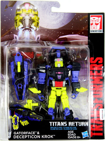 Transformers: Titans Return ~ KROK & GATORFACE ACTION FIGURES ~ Deluxe Class