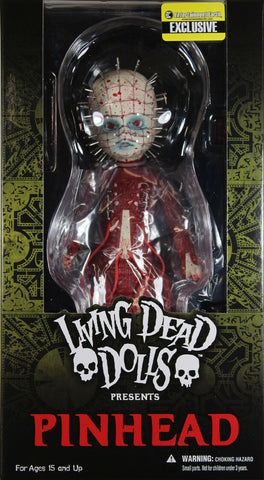 "Living Dead Dolls ~ RED PINHEAD ""BLOODY"" CHASE VARIANT ACTION FIGURE ~ Mezco LDD"