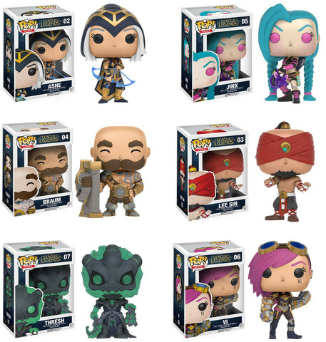 Funko POP! Games ~ LEAGUE OF LEGENDS SET ~ VI, BRAUM, THRESH, JYNX, ASHE, SIN