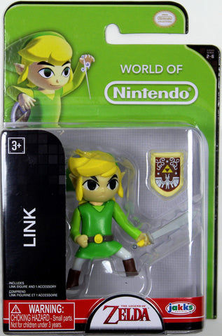 World of Nintendo ~ LINK w/SWORD & SHIELD Figure ~ LEGEND OF ZELDA ~ JAKKS