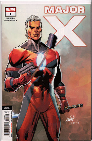 MAJOR X #1 (2ND PRINT) COMIC BOOK ~ Rob Liefeld ~ Marvel Comics