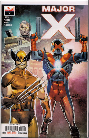 MAJOR X #2 (1ST PRINT) COMIC BOOK ~ Rob Liefeld ~ Marvel Comics