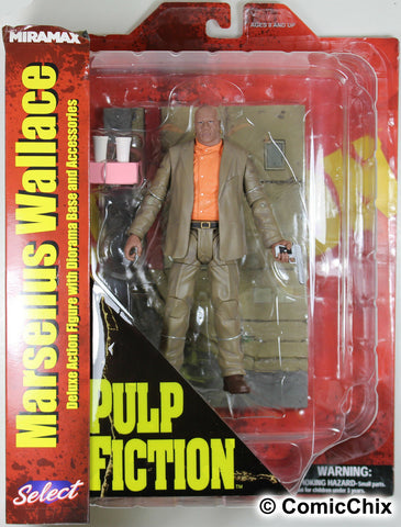 Pulp Fiction ~ MARSELLUS WALLACE COLLECTABLE ACTION FIGURE ~ Diamond Select DST