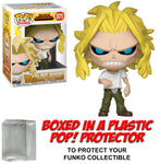 Funko POP! Animation ~ ALL MIGHT (WEAKENED)(#371) VINYL FIGURE w/Protector Case ~ My Hero Academia MHA