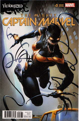 THE MIGHTY CAPTAIN MARVEL #3 (VENOMIZED VARIANT) COMIC BOOK ~ Marvel Comics