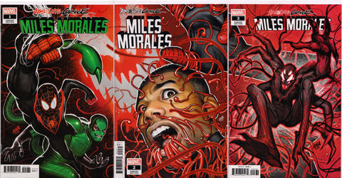 ABSOLUTE CARNAGE: MILES MORALES #1,2,3 NAKAYAMA CONNECTING COVER SET ~ Marvel Comics