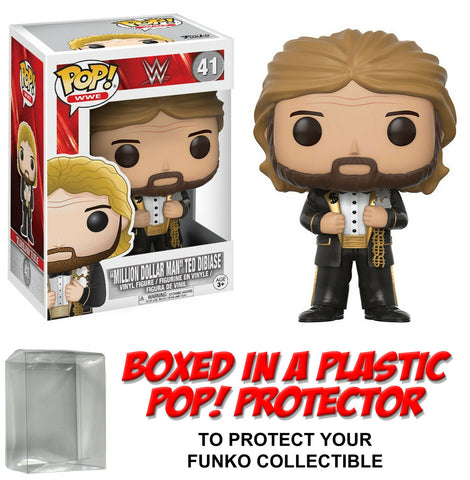 "Funko POP! Television ~ TED DIBIASE ""MILLION DOLLAR MAN"" FIGURE w/Protector Case"