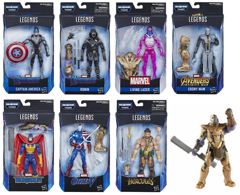 Marvel Legends ~ AVENGERS: ENDGAME ACTION FIGURE SET w/ARMORED THANOS BAF COMPLETE