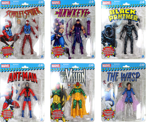 Marvel Legends ~ VINTAGE COLLECTION WAVE 2 SET ~ Black Panther+++++ Retro