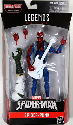 Marvel Legends ~ SPIDER-PUNK ACTION FIGURE ~ Lizard BAF Spider-Man Series ~ Hasbro