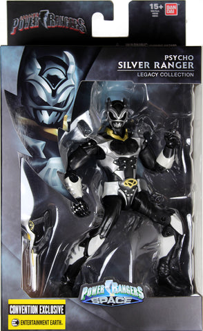 Power Rangers Space ~ PSYCHO SILVER RANGER LEGACY ACTION FIGURE ~ SDCC Exclusive