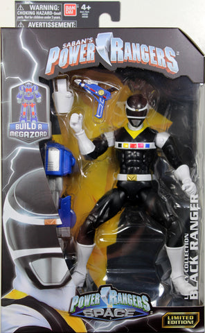 Power Rangers Space ~ BLACK RANGER LEGACY ACTION FIGURE ~ MMPR Morphin