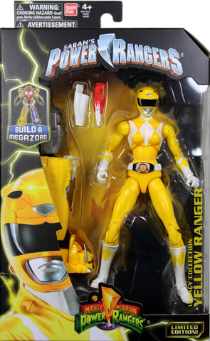 Power Rangers (Classic) ~ YELLOW RANGER LEGACY ACTION FIGURE ~ MMPR Morphin